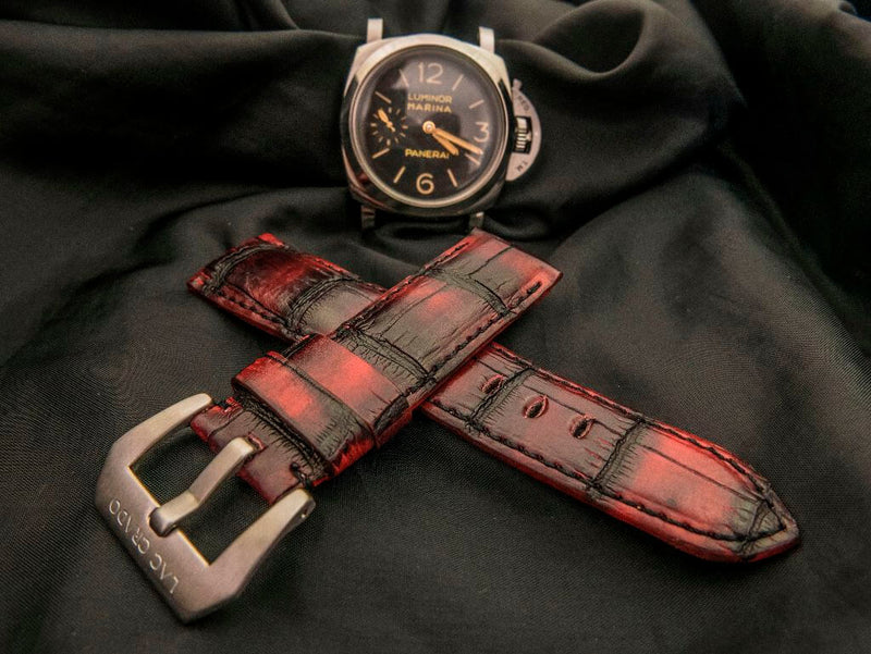 CROCODILE BELLY LEATHER STRAP - RORAIMA