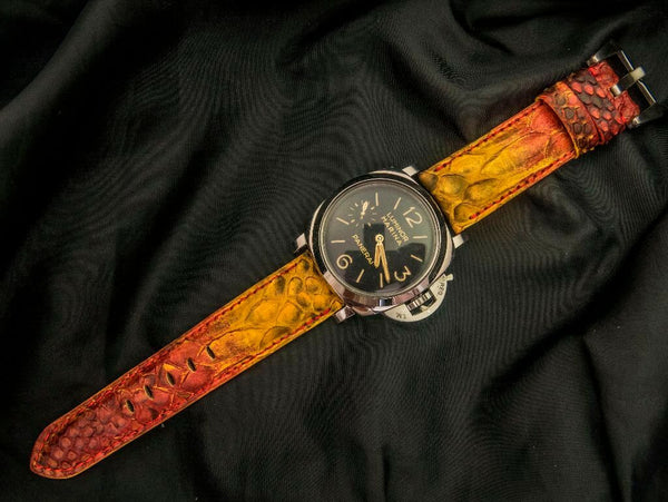 PYTHON LEATHER STRAP FOR PANERAI - THE DRAGON