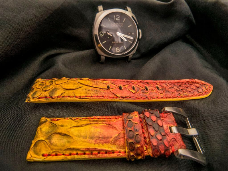 PYTHON LEATHER STRAP - THE DRAGON