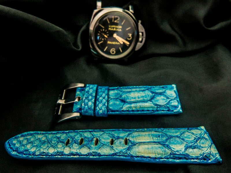 PYTHON LEATHER STRAP - FORGET ME NOT