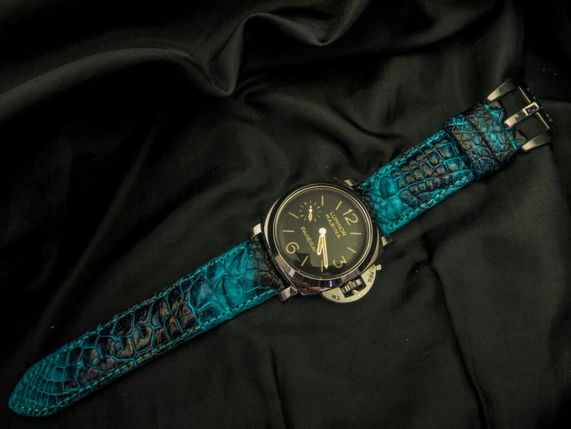 CROCODILE HORNBACK LEATHER STRAP - STARFISH