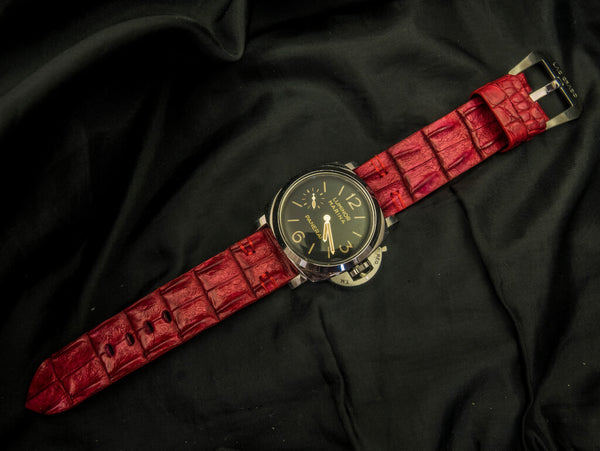 CROCODILE HORNBACK LEATHER STRAP - THE ROSE