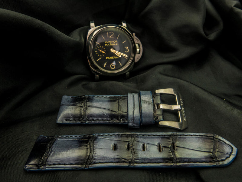 CROCODILE BELLY LEATHER STRAP - YALE
