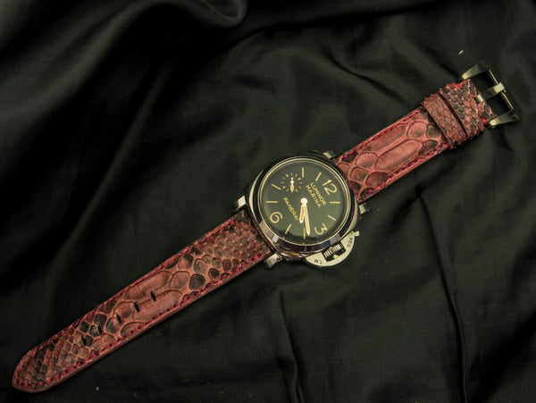 PYTHON LEATHER STRAP - MURREY