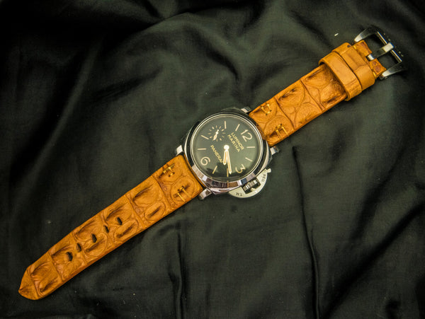 CROCODILE HORNBACK LEATHER STRAP - WAXEN