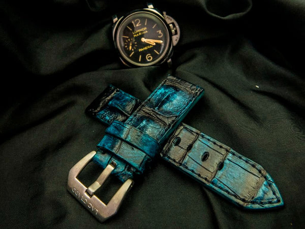 CROCODILE HORNBACK LEATHER STRAP - HAMPI