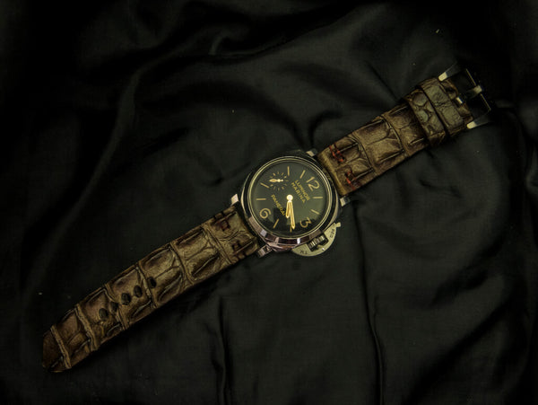 CROCODILE HORNBACK LEATHER STRAP - THE LAND