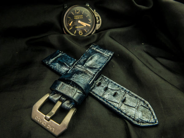 CROCODILE HORNBACK LEATHER STRAP - THE SHARK