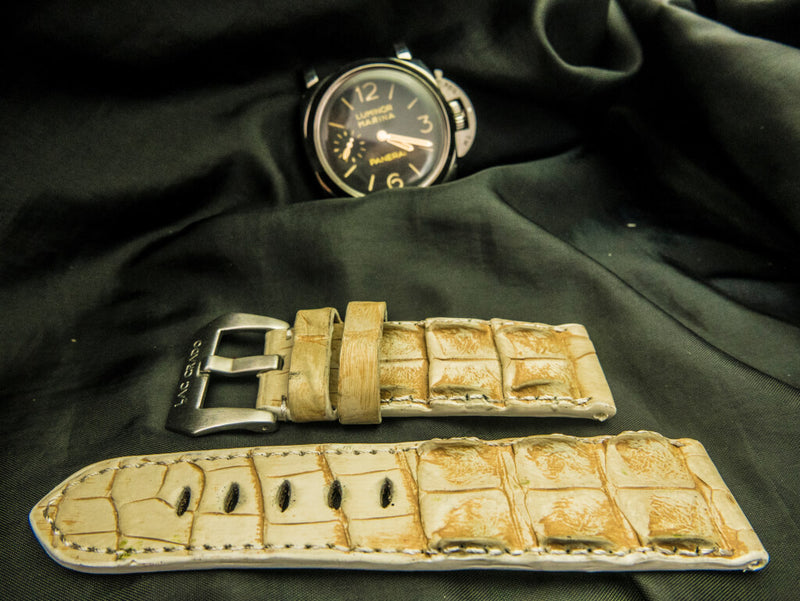 CROCODILE HORNBACK LEATHER STRAP - SNOWDON