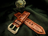 CROCODILE BELLY  LEATHER STRAP - APPLE