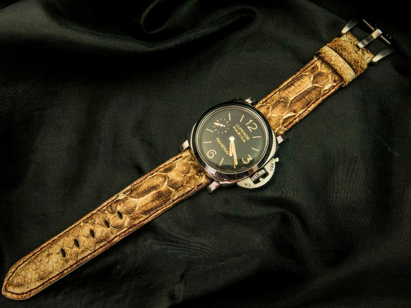 PYTHON LEATHER STRAP FOR PANERAI - GUPSUM