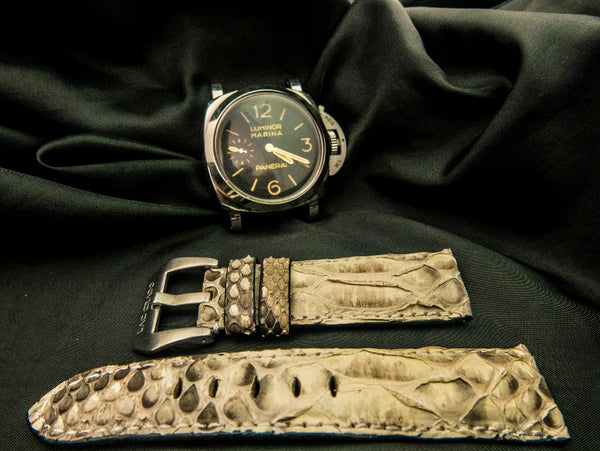 PYTHON LEATHER STRAP FOR PANERAI - IVORY
