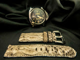 PYTHON LEATHER STRAP - IVORY