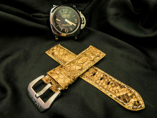PYTHON LEATHER STRAP FOR PANERAI - LOMOND