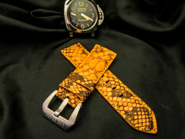 PYTHON LEATHER STRAP FOR PANERAI - HARAU