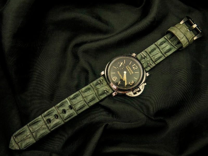 CROCODILE HORNBACK LEATHER STRAP - THE CLOUD