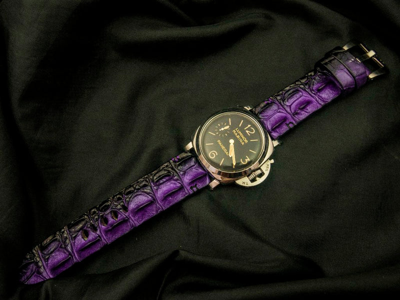 CROCODILE HORNBACK LEATHER STRAP - HEBE