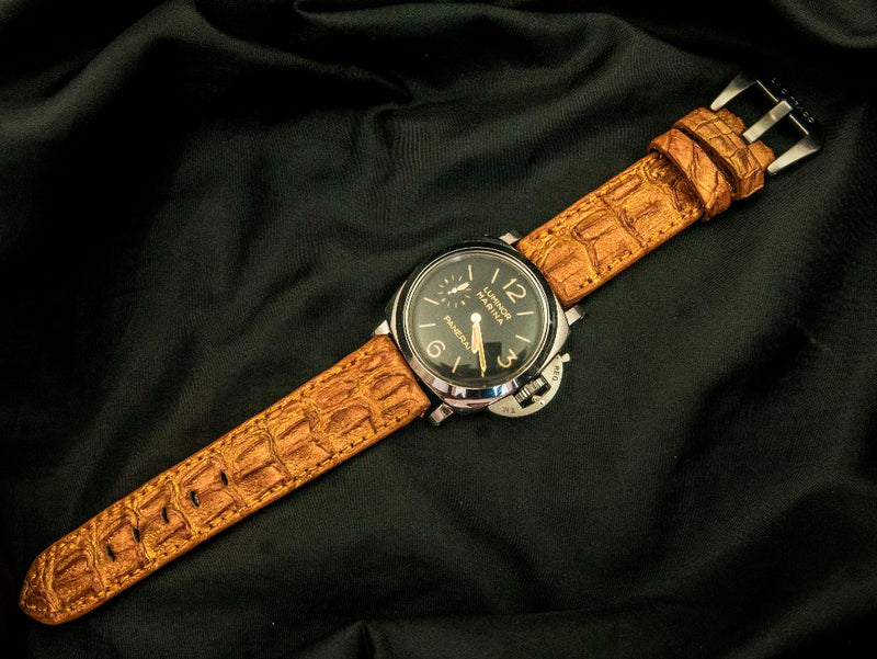 CROCODILE HORNBACK LEATHER STRAP - THE HAM