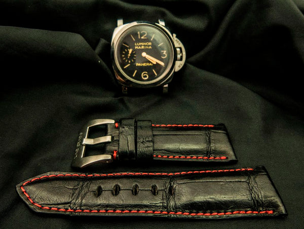 CROCODILE BELLY LEATHER STRAP - THE NIGHT