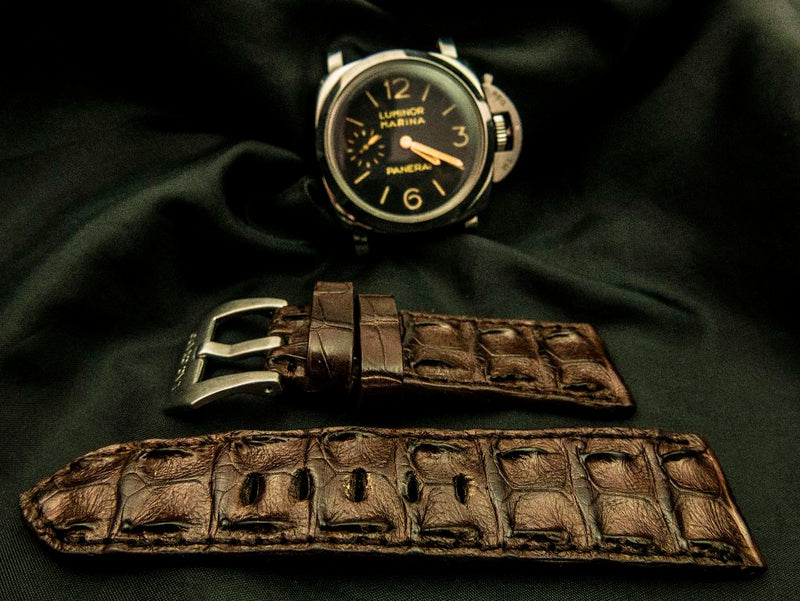 CROCODILE HORNBACK LEATHER STRAP - REINE
