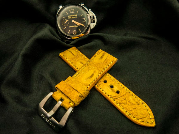 CROCODILE HORNBACK LEATHER STRAP - SOLAR