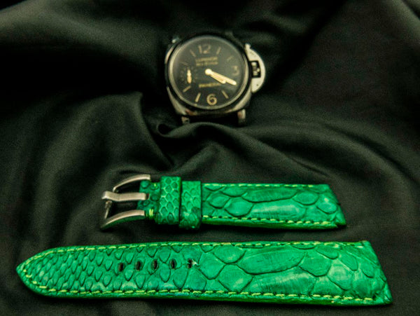PYTHON LEATHER STRAP - SEVEN MILE