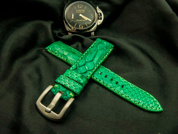 PYTHON LEATHER STRAP FOR ROLEX - SEVEN MILE
