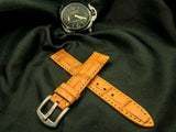 CROCODILE BELLY LEATHER STRAP - SUNRISE