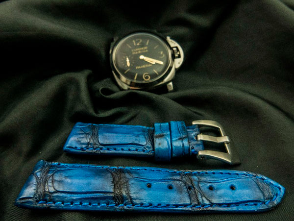 CROCODILE BELLY LEATHER STRAP - VICTORY