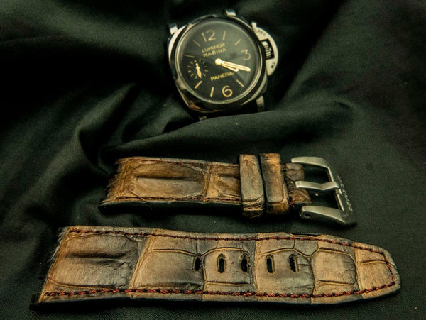 CROCODILE HORNBACK LEATHER STRAP - TENBY