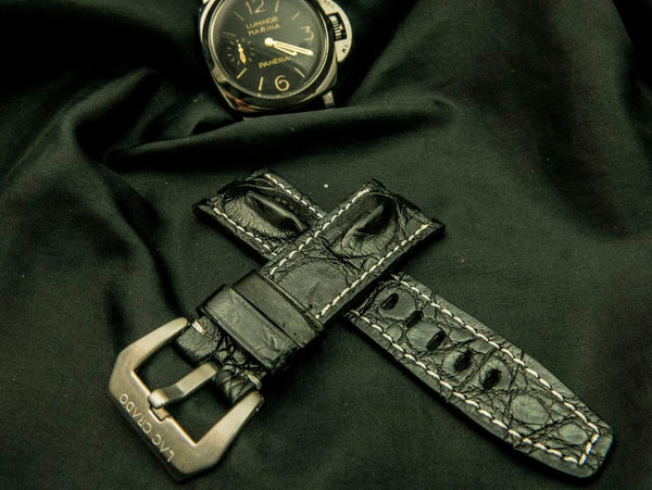CROCODILE LEATHER STRAP - CARMEL
