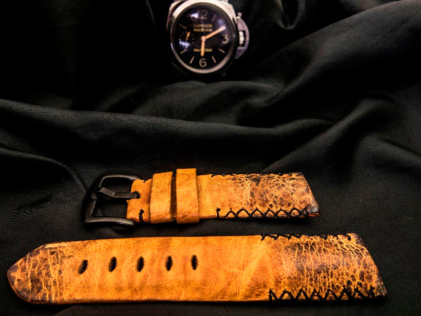 TOAD LEATHER STRAP FOR PANERAI - SPOTTED