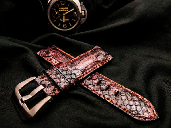 PYTHON LEATHER STRAP - ATERMIS