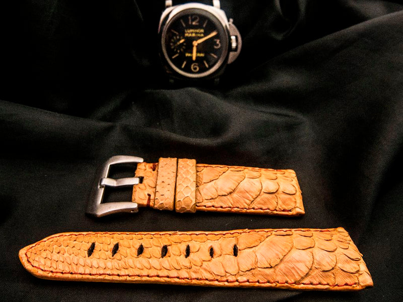 PYTHON LEATHER STRAP FOR PANERAI - CREPE