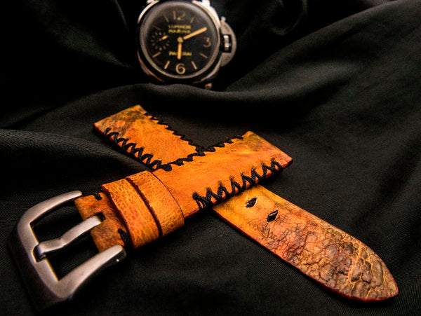 TOAD LEATHER STRAP FOR PANERAI - GARDA