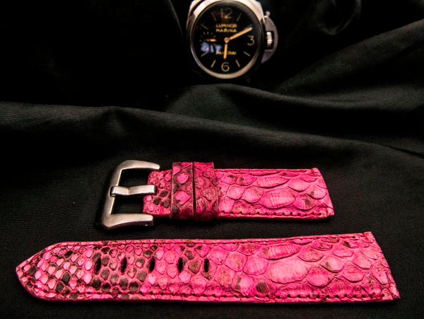 PYTHON LEATHER STRAP FOR PANERAI - PINK LIGHT