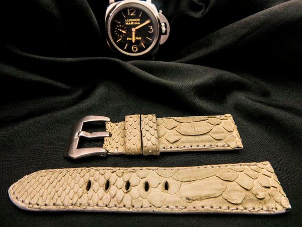 PYTHON LEATHER STRAP - HERA