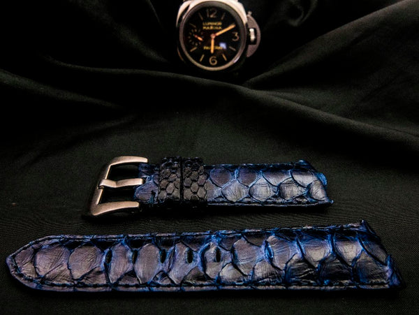 PYTHON LEATHER STRAP - POSEIDON