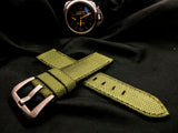 DENIM LEATHER STRAP - MISTLETOE