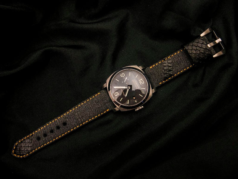 DENIM LEATHER STRAP - THE FIR