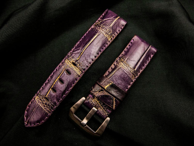 CROCODILE BELLY LEATHER STRAP - HORAE