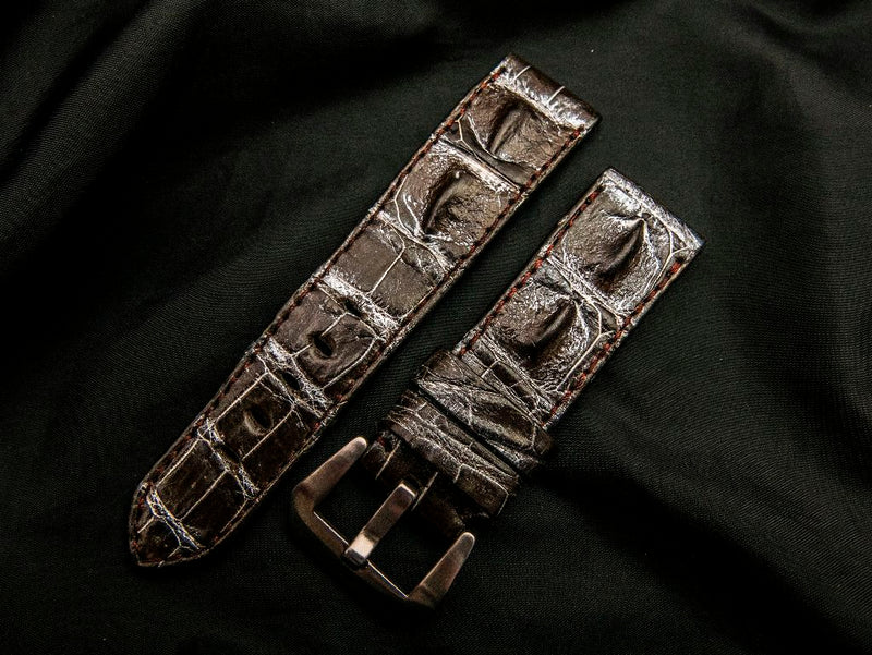 CROCODILE HORNBACK LEATHER STRAP - GRENADA