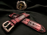 CROCODILE BELLY LEATHER STRAP - ALPS