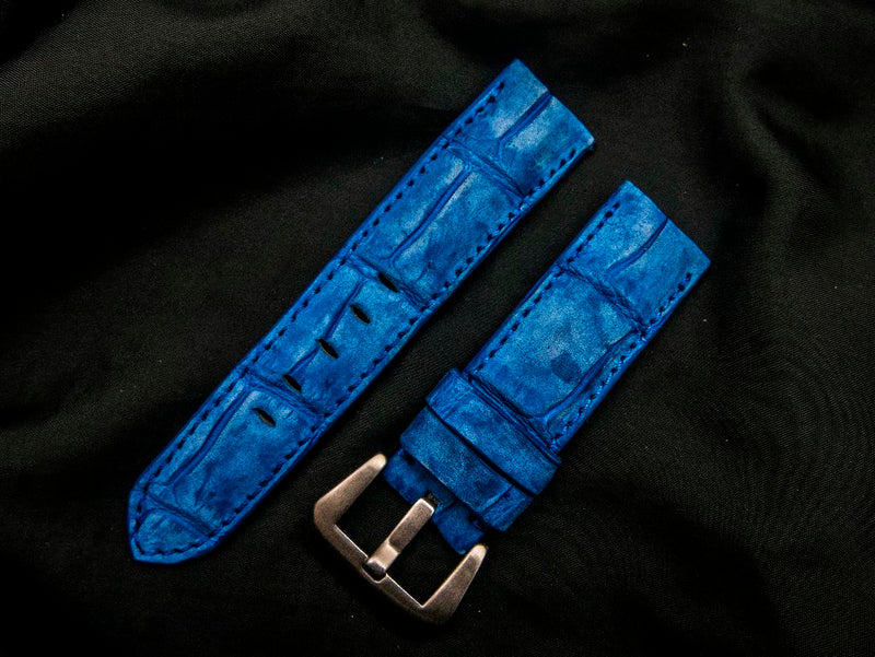 CROCODILE BELLY LEATHER STRAP - MARVAO