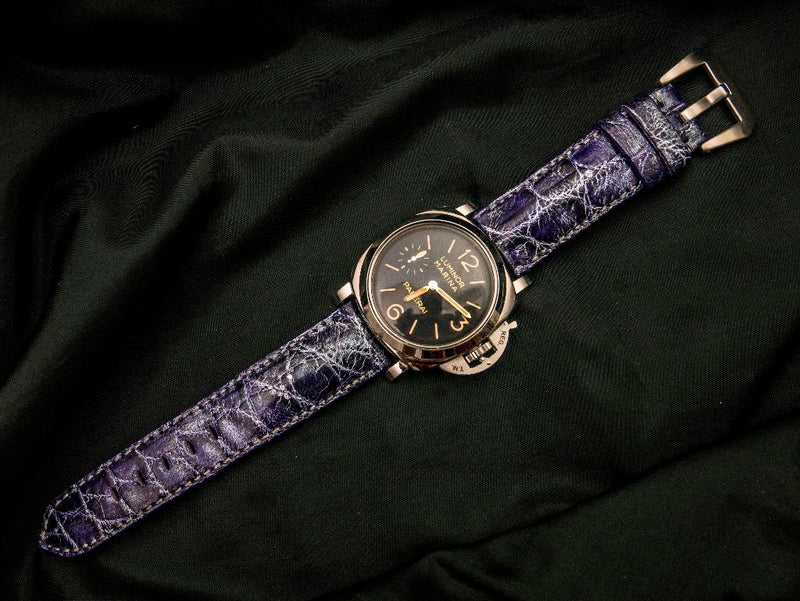 CROCODILE BELLY LEATHER STRAP - PHANES
