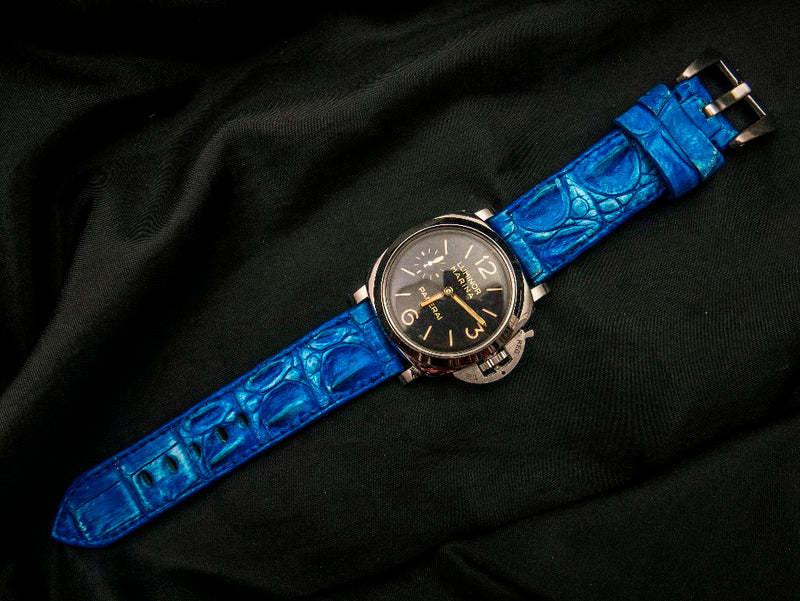 CROCODILE HORNBACK LEATHER STRAP - VERSAILLE