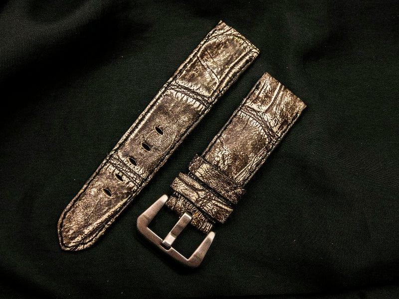 CROCODILE BELLY LEATHER STRAP FOR PANERAI - DEKO
