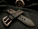 CROCODILE HORNBACK LEATHER STRAP - JASPER