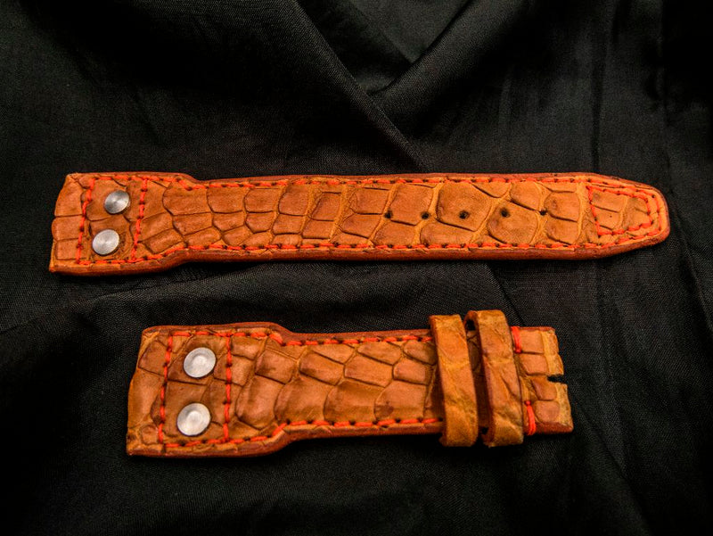 CROCODILE LEATHER STRAP - BIG SUR