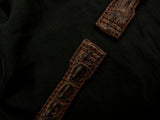 CROCODILE LEATHER STRAP - EREBUS